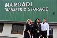 Mary Maroadi, president of Maroadi Transfer & Storage with Michelle Abraham and Pat McLaughlin.