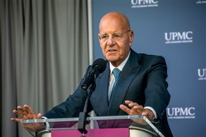 In a 2019 photo, UPMC President and CEO Jeffrey Romoff