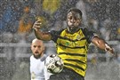 Neco Brett and the Riverhounds face defending USL champions Louisville FC in the Eastern Conference semifinals Saturday at Highmark Stadium.