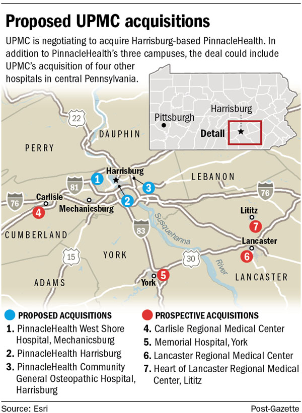 UPMC moving into the central Pa  health market | Pittsburgh Post-Gazette