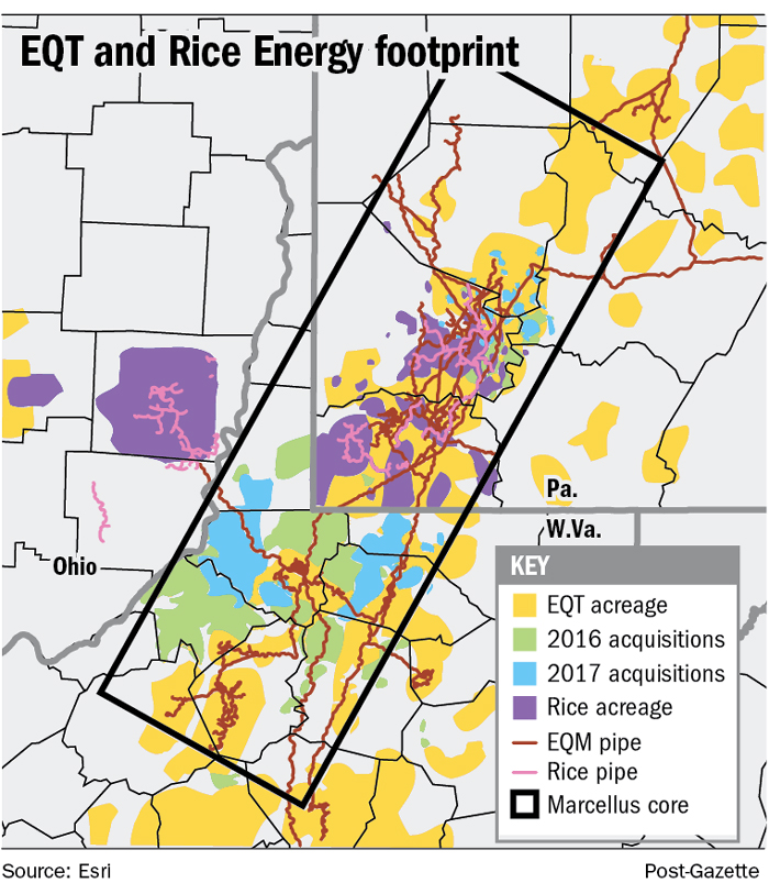 EQT to become largest gas driller with $6 7 billion Rice