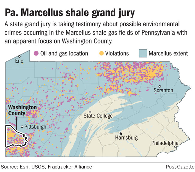State conducting criminal investigation of shale gas production