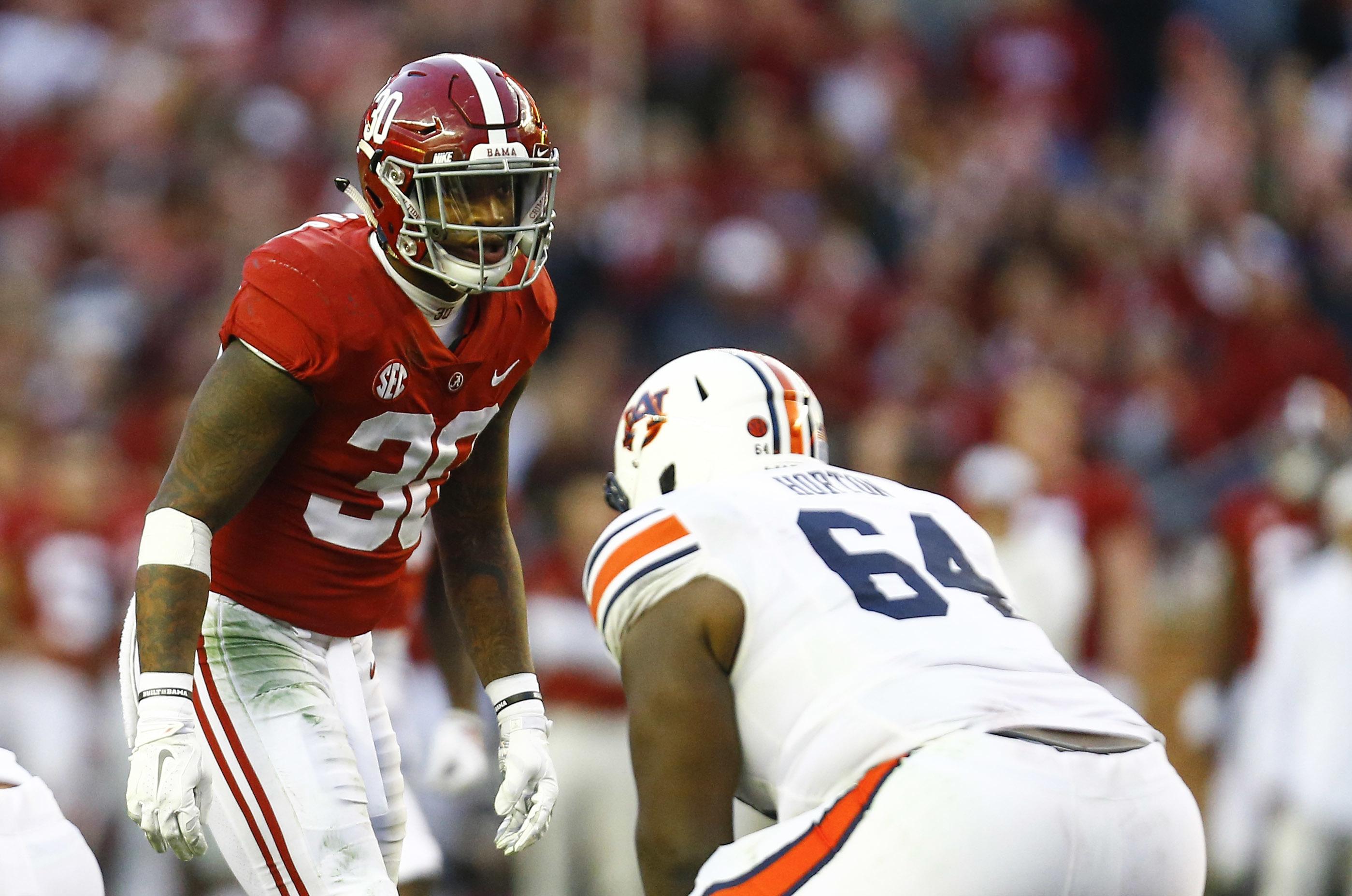 d635b14ca Alabama linebacker Mack Wilson (30) has seen his stock slip since declaring  for the draft.(Associated Press)