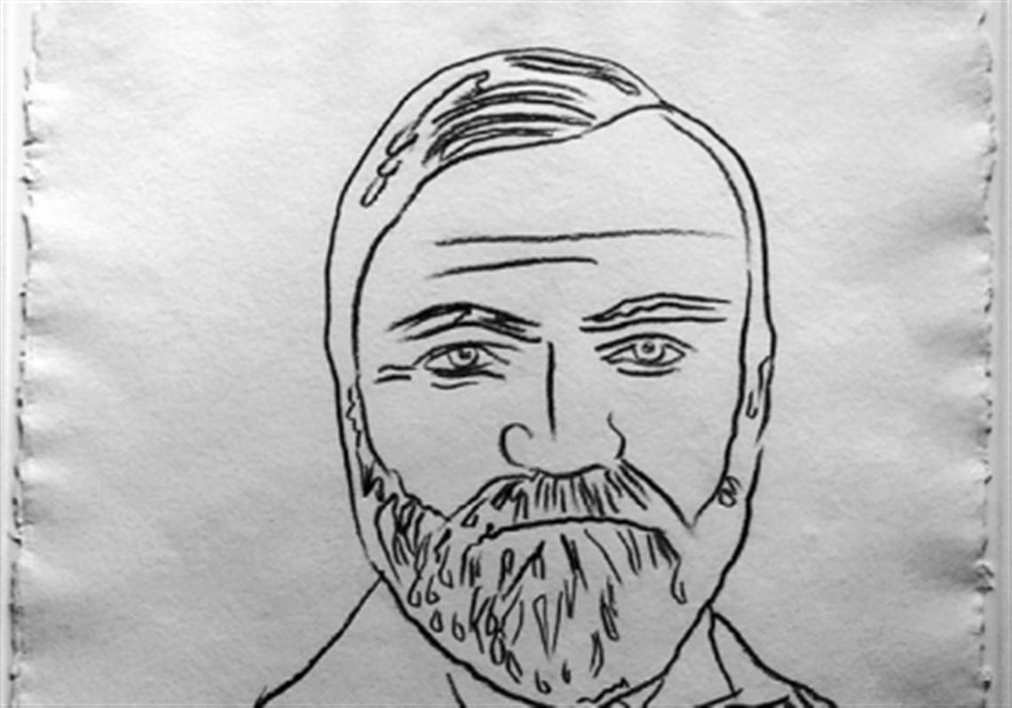 Revealing Andy Warhol's drawing of Andrew Carnegie | Pittsburgh Post