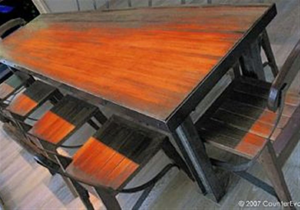 Gutterball Style Dining Table And Chairs By CounterEvolutionNYC.