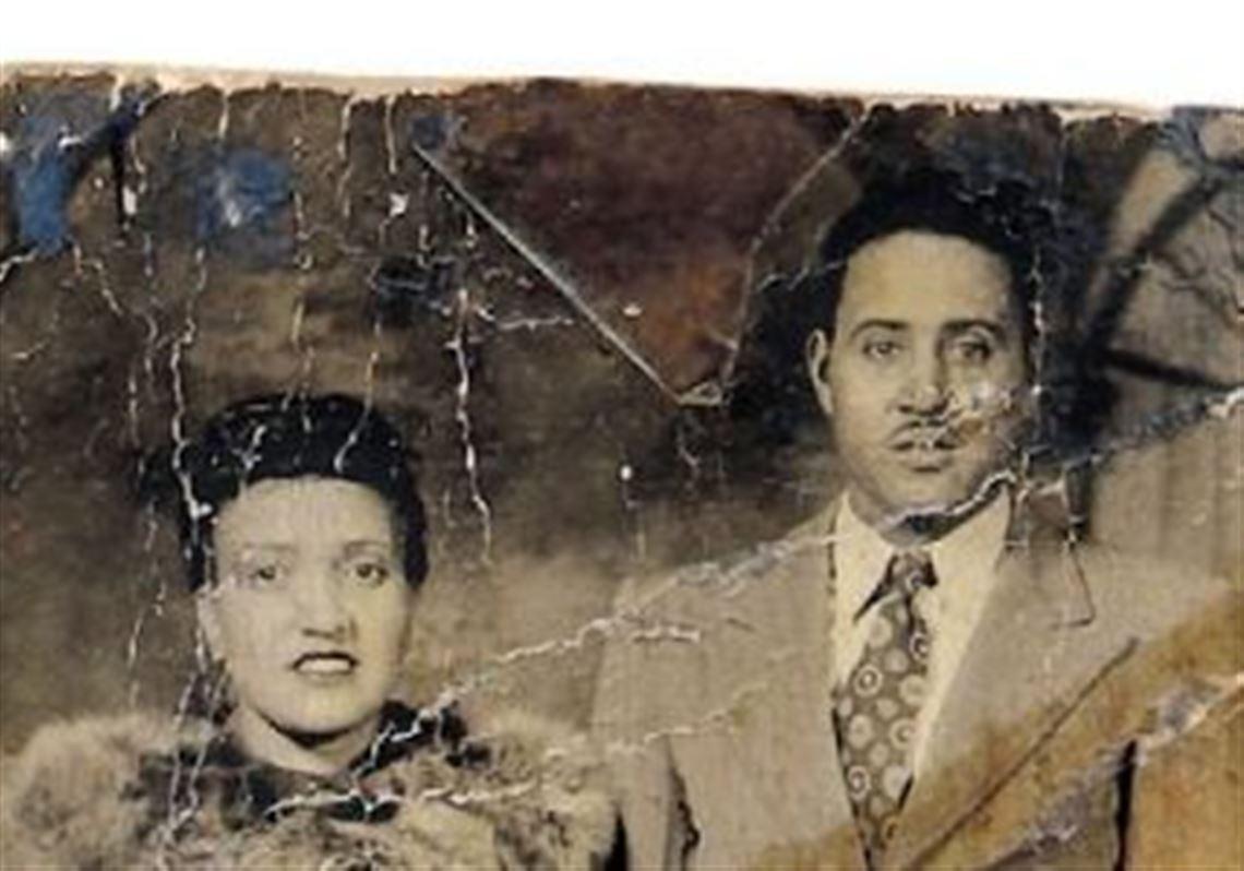 Immortal Henrietta Lax with husband David, 1945, Baltimore, USA