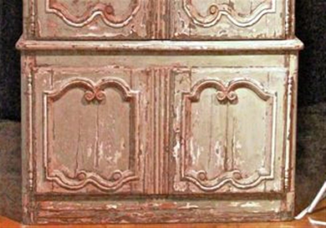 Louis XV armoire with walnut doors and pine frame for Trade Mark RHL. - Furniture Makers Are Creating Modern Pieces That Resemble Well-worn