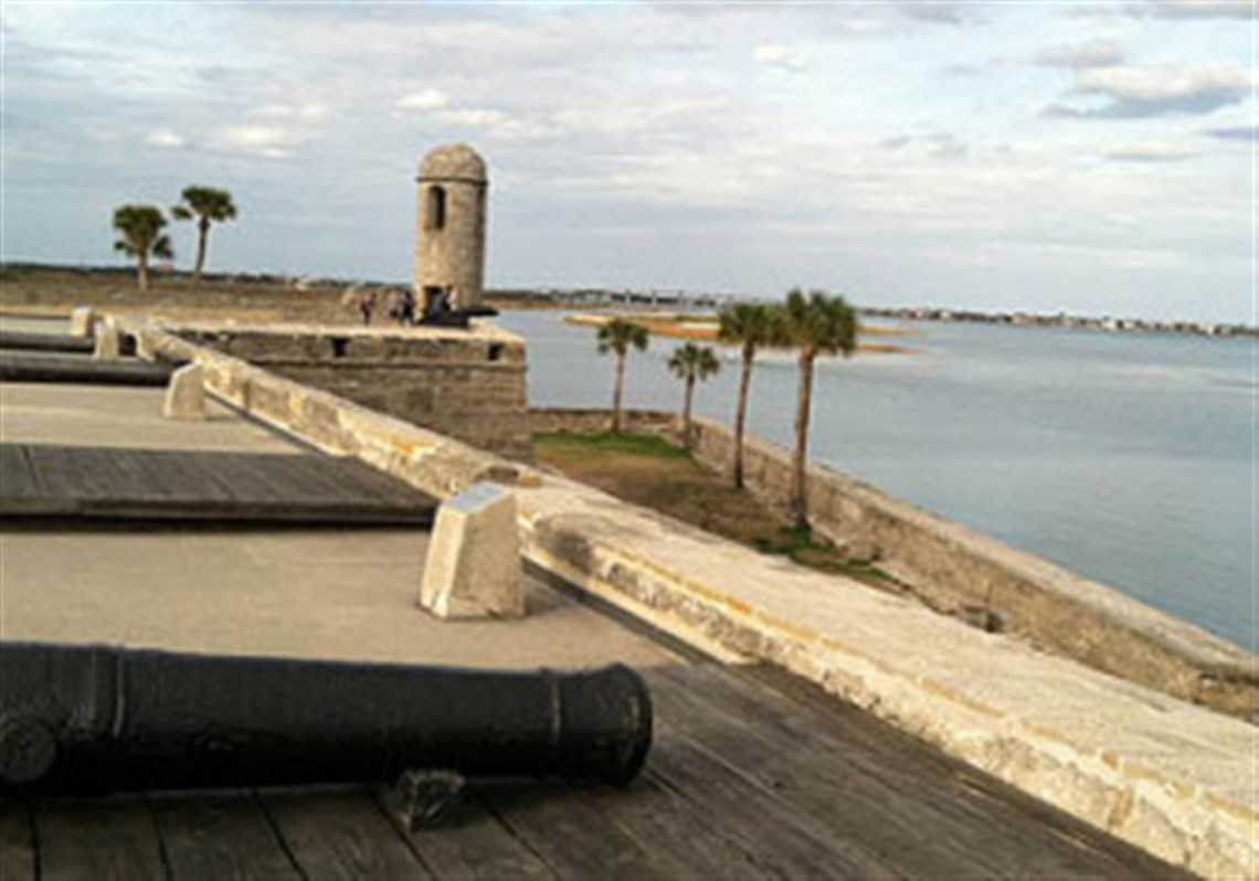 A View From The Historic Fort Castillo De San Marcos Which Dates To 1672
