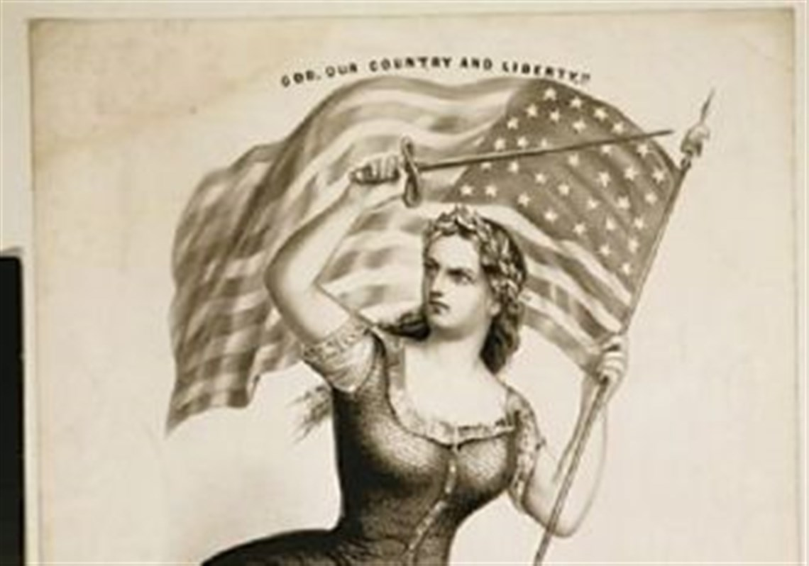 Hail Miss Columbia Once A Us Symbol Shes Lost Out To Uncle Sam