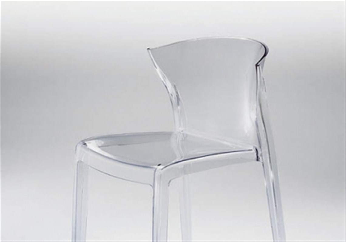 a clear trend plastic by just about any name has shaped modern  - nord chair by green srl available at architect