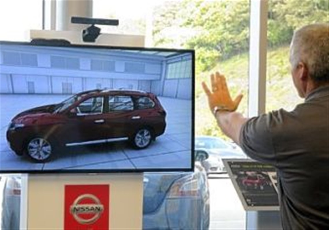 Nissan pilots a Kinect experience for a virtual showroom ...