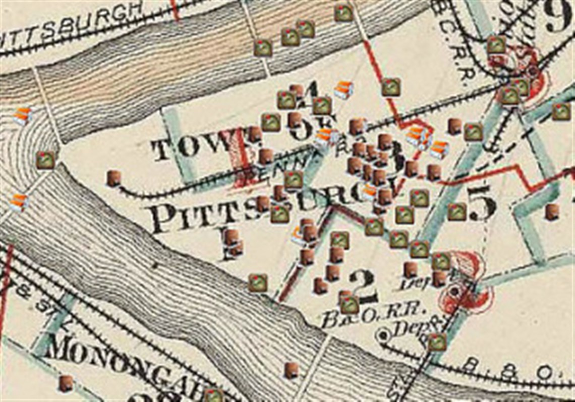 A Detail From The Pittsburgh Mapping And Historical Site Viewer Home Page
