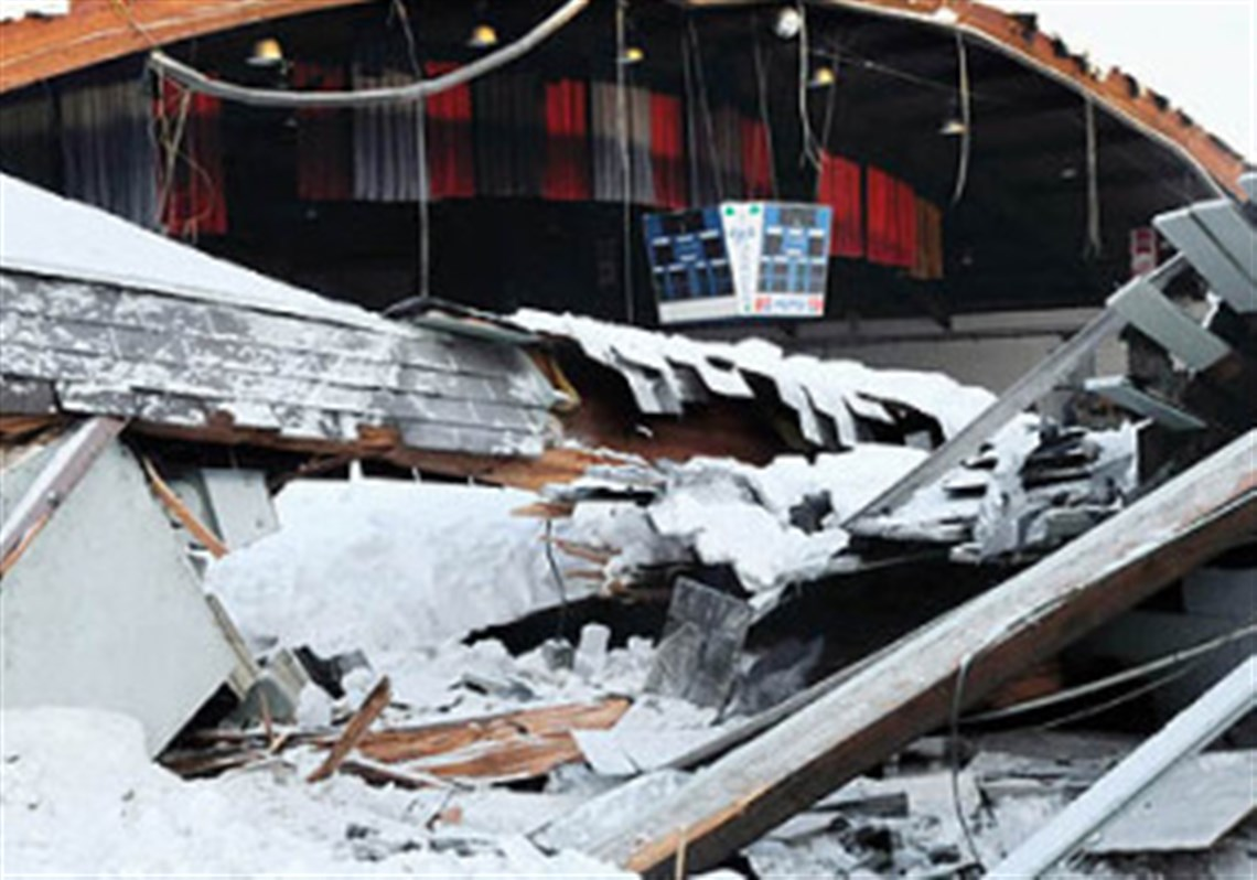south side ice rink is latest structure to collapse pittsburgh