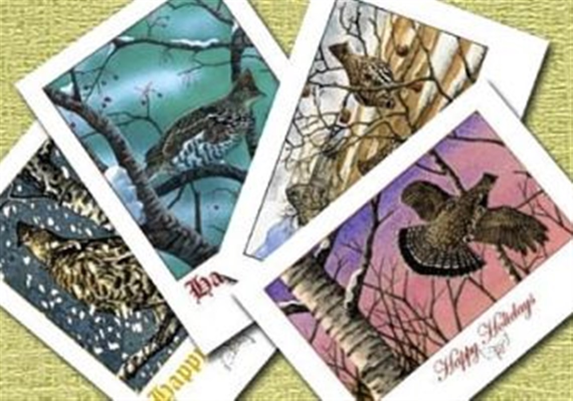 Eclectic collection of greeting cards capture spirit of season and ruffed grouse societys cards were designed by wildlife artist chris smith 4 eclectic collection of greeting kristyandbryce Image collections
