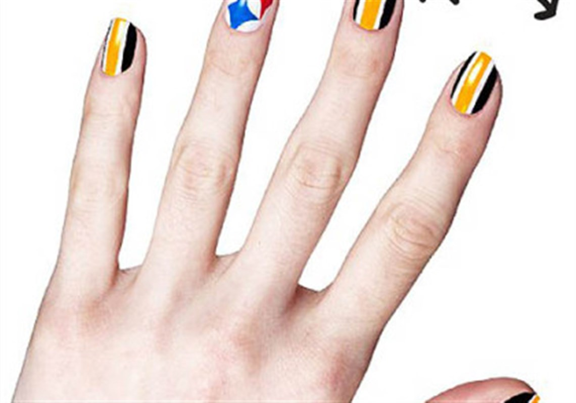 Stylebook: Covergirl, NFL team up for Steelers game day nails ...
