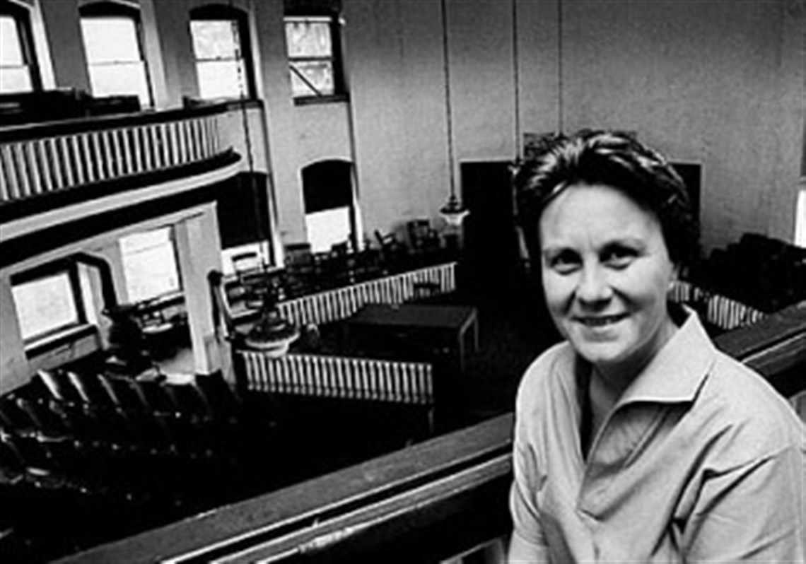 harper lee who penned to kill a mockingbird dead at  harper lee poses for life magazine in the balcony of the old courthouse in monroeville
