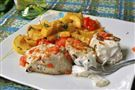 Salmon-Buttered Halibut Steaks
