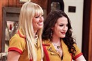 "Beth Behrs, left, and Kat Dennings star in ""2 Broke Girls."""