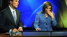 WPXI anchors Todd McDermott and Jennifer Abney, with a little yawn, get ready to start the 4:30 a.m. morning newscast.