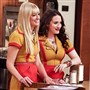 "Beth Behrs, left, and Kat Dennings star in ""2 Broke Girls."" The show is now on hiatus."