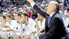 Penn State University men's basketball coach Pat Chambers directs his players in a game at Bryce Jordan Center.