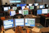 Employees work at the Allegheny County 911 center.