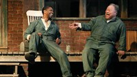 "Denzel Washington, left, as Troy Maxson, with Stephen McKinley Henderson as Bono, starred in the Broadway revival of August Wilson's ""Fences"" and are also in the movie version, due Christmas Day."