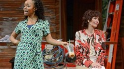 "Among cast members of Pittsburgh Public Theater's ""Clybourne Park"" are, from left, chandra thomas and Lynne Wintersteller."