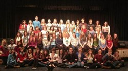 "The cast of Hampton High School's ""Legally Blonde."""