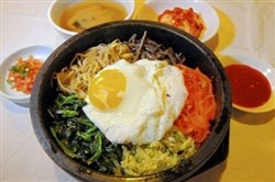 Dol sot bi bim bap at Korea Garden in Oakland.
