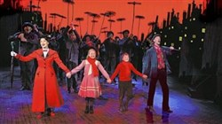 "The original national touring company of ""Mary Poppins"" starred Caroline Sheen as Mary, with Katie Balen, Bryce Baldwin and Gavin Lee as Bert."