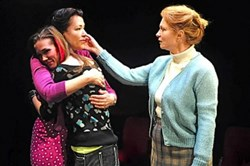 "Embracing three generations of struggle and growth in City Theatre's ""Gem"" are, from left, Robin Walsh, Hayley Nielsen and Cary Anne Spear."