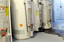 Now, the cost to buy and install a typical water heater is about $900.