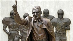The Joe Paterno statue remains a hot-button issue for alums that want the statue returned and Paterno's legacy restored, and child advocacy groups who say members of the Penn State community are putting their idolatry of Paterno ahead of the safety of the children sexually abused by former assistant coach Jerry Sandusky during Paterno's tenure.