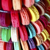 The macaron display at Gaby et Jules in Squirrel Hill.