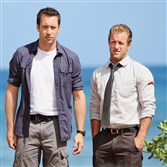 "Scott Caan, right, appears in fewer episodes of CBS's ""Hawaii Five-0"" than Alex O'Loughlin."