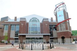 The 5,000-seat Convocation Center at California University of Pennsylvania.