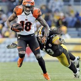 Star receiver A.J. Green is always a player to keep an eye on when the Steelers take on the Bengals.