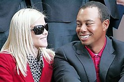 Elin Nordegren and Tiger Woods in  2009: He says they are the best of friends.