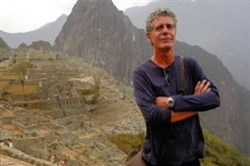 Chef Anthony Bourdain's travels have included a trip to the ancient Incan city of Machu Piccu in Peru.