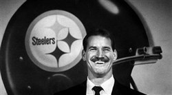 New Steelers coach Bill Cowher during a press conference at Three Rivers Stadium on Tuesday, Jan. 1, 1992. Cowher replaced the legendary Chuck Noll.