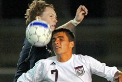 Josh Turnley, front, seen here playing high school soccer with Beaver, was selected with the 42nd overall pick of the MLS Superdraft Tuesday.
