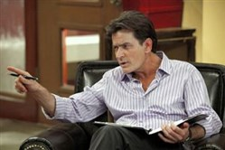 "Charlie Sheen, shown in ""Anger Management."" Speculation swirls on whether he'll be in the final episode of ""Two and a Half Men"" in April."