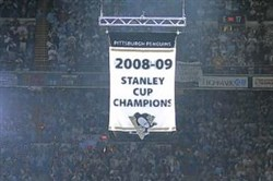 The Penguins will raise their new Stanley Cup championship banner during the regular season opener against the Washington Capitals on Oct. 13.