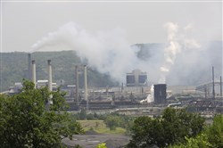 The U.S Steel Corp.'s Clairton Coke Works on the Monongahela River is the Pittsburgh region's major polluter.