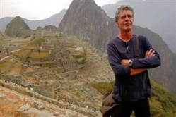 Chef Anthony Bourdain's travels have included a trip to the ancient Incan city of Machu Picchu in Peru.