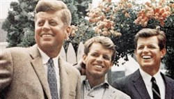 The Kennedy brothers, from left, John, Robert and Edward.