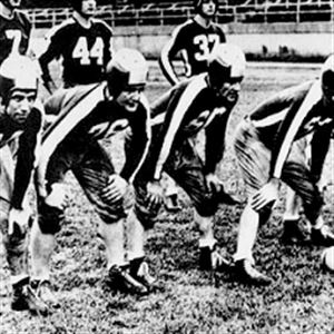 ABOVE: The 1943 mash-up of the Steelers and Eagles wore green and white and played only two games in Pittsburgh.
