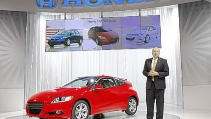 2011 Honda CR-Z John Mendel, executive vice president of American Honda Motor Co., introduces the 2011 Honda CR-Z.