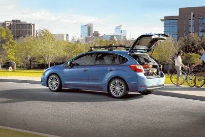 2013 Subaru Impreza Exterior: The 2013 Subaru Impreza hatchback casts an appealing profile to hatchback lovers, and coupled with all-wheel drive, it's the trifecta of competence.